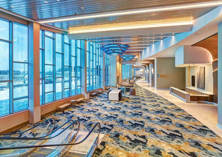 Mystic Lake Casino Lobby with escalator